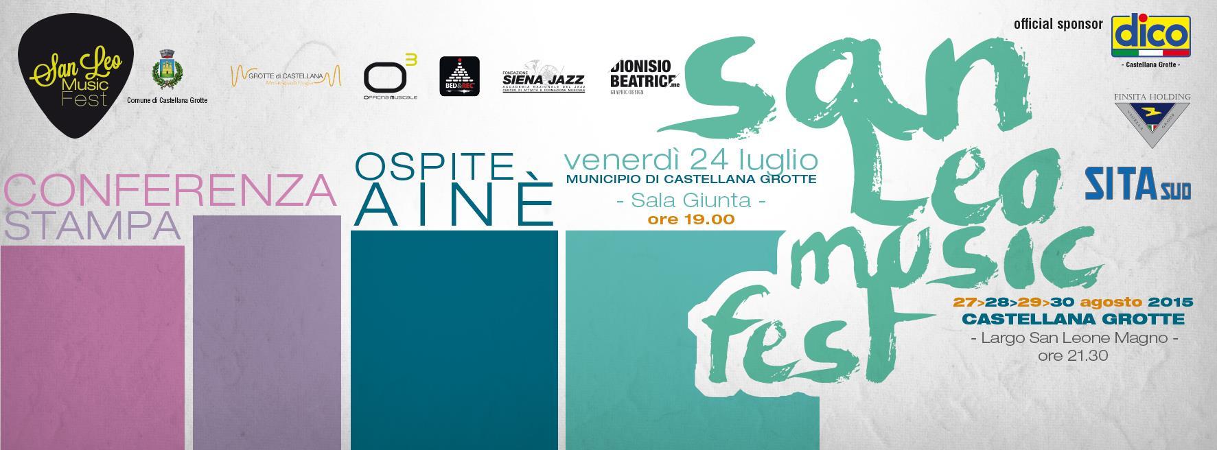 Conferenza stampa - SAN LEO MUSIC FEST 2015