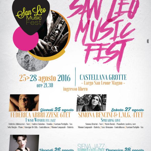 Programma San Leo Music Fest 2016 - Castellana Grotte - Organizzato da Officina Musicale