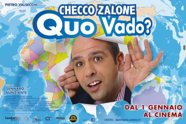 Locandina e Colonna Sonora di Quo Vado di Checco Zalone, tutto fatto ad Officina Musicale