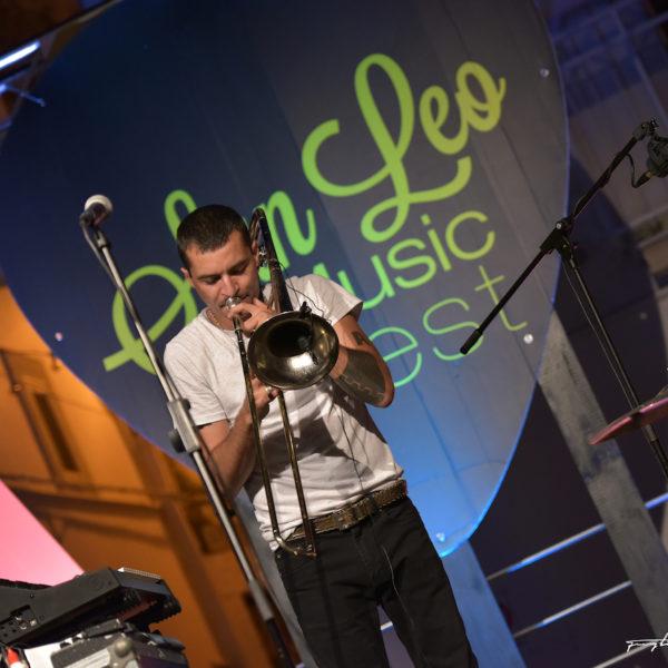 San Leo Music Fest 2018 - Gianluca Petrella Trio 70's - michele Papadia stefano Tamborrino